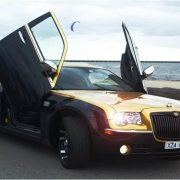 Gold Black Chrysler Limo