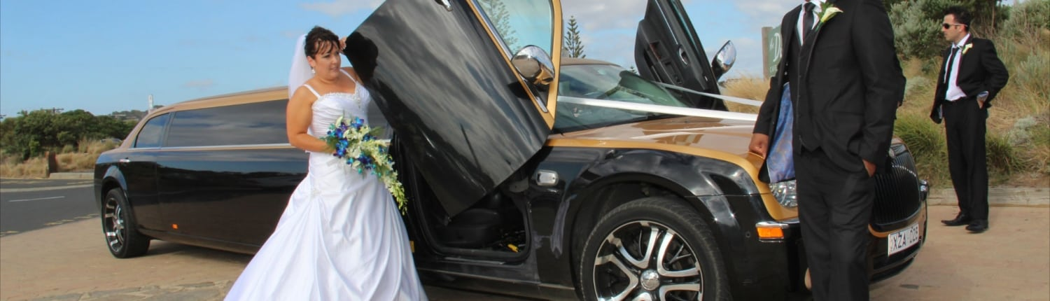 Wedding Gold Chrysler Limo