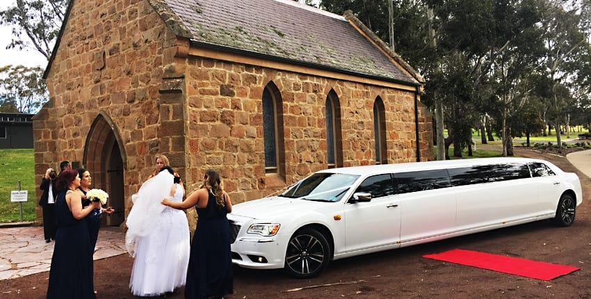White Wedding Limos